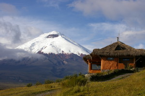 Schutzhütte Tambopaxi am Fuße des Vulkans Cotopaxi, Equador